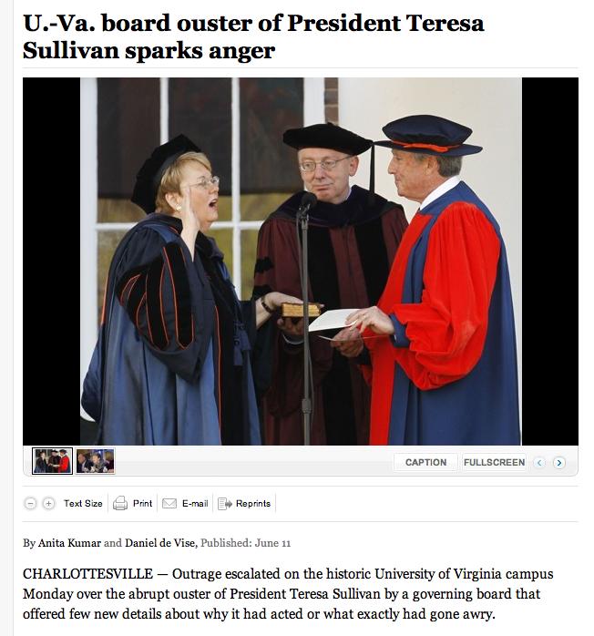 Screen shot, Washington Post