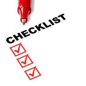 Presenter's checklist